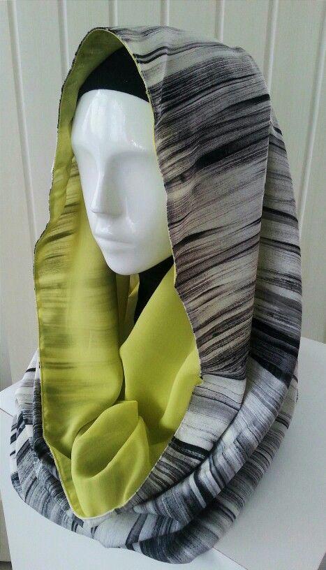Hijab hoodie shawl by sandywest. Instagram sandywestshawl