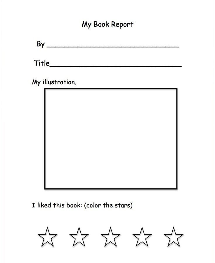 easy book report for kindergarten Most importantly, perhaps, her review pointed to the critical importance not just of  children's learning but also of their basic early understandings of print and how.