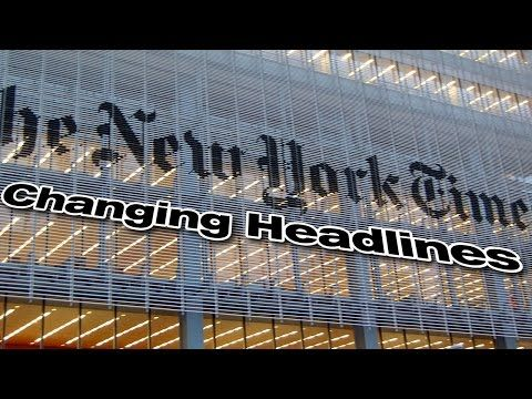 New York Times CHANGED Headline on Wiretapping, More Dishonest Fake News - YouTube