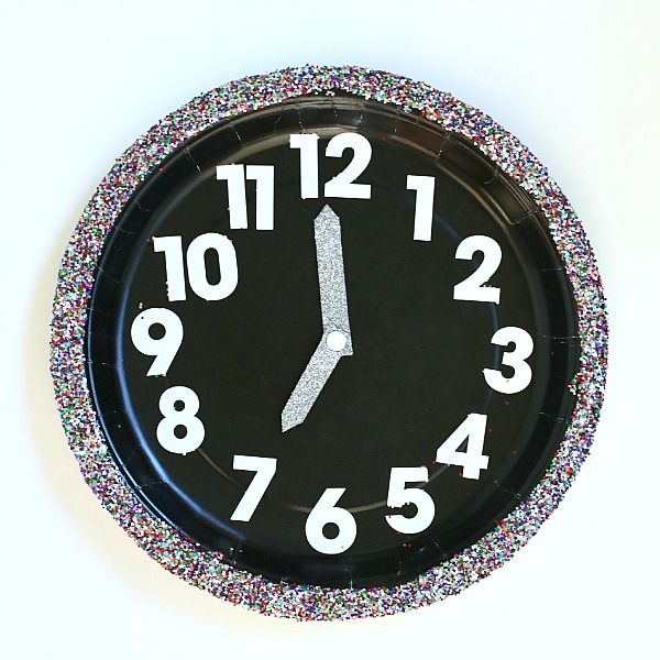 New Year's Eve with Kids: Countdown Clock Craft for Kids