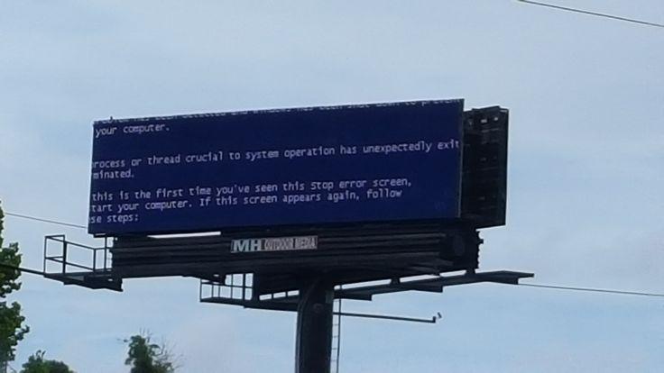 Secret Apple ad. [x-post /r/softwaregore] #bsod #pbsod