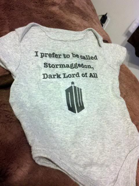 A Doctor Who themed onesie I made for my friend and her son Alfie.