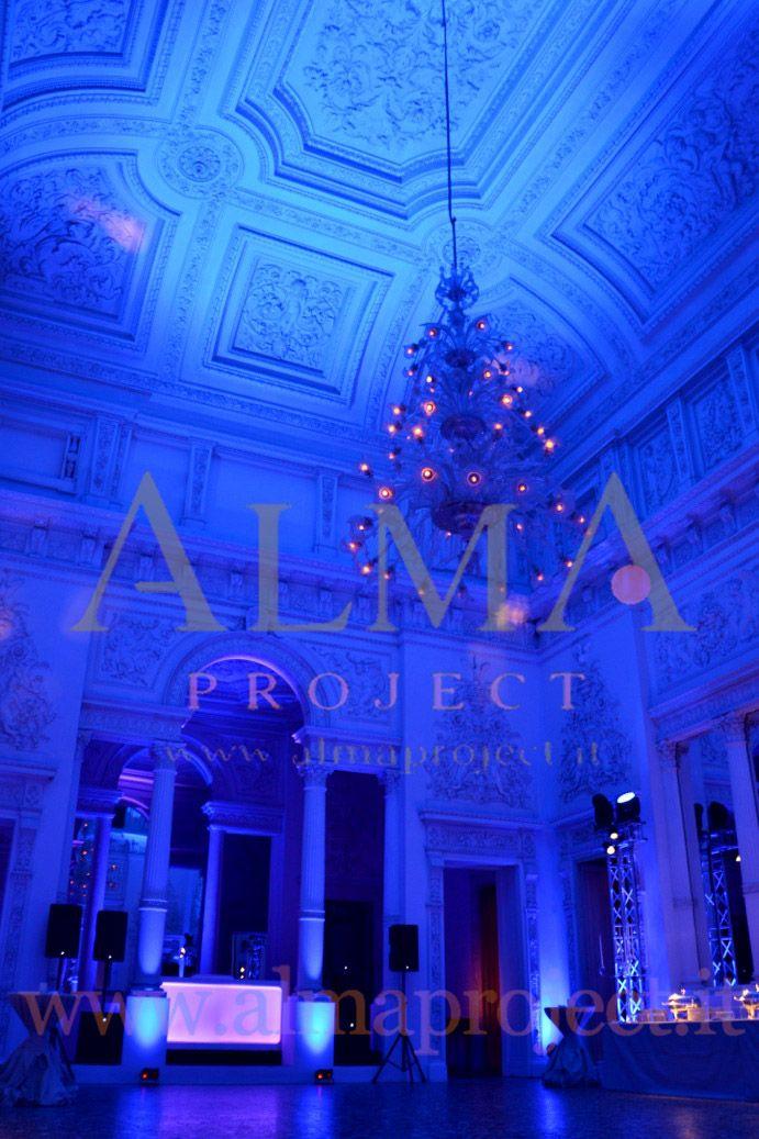+ ALMA PROJECT @ Palazzo Gerini - MH - Dj Console - Battery Led Pars - Pin Spot - Buffet - Blue - 8
