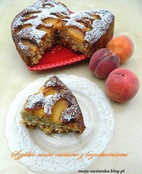 ciasto owsiane z brzoskwiniami