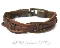mens leather bracelet diy - Google Search