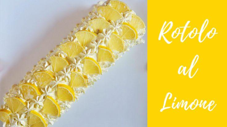 Rotolo al Limone con pasta Boscotto e crema al Limone, ricetta facile. Un dessert dal gusto goloso e dall'aspetto molto elegante!