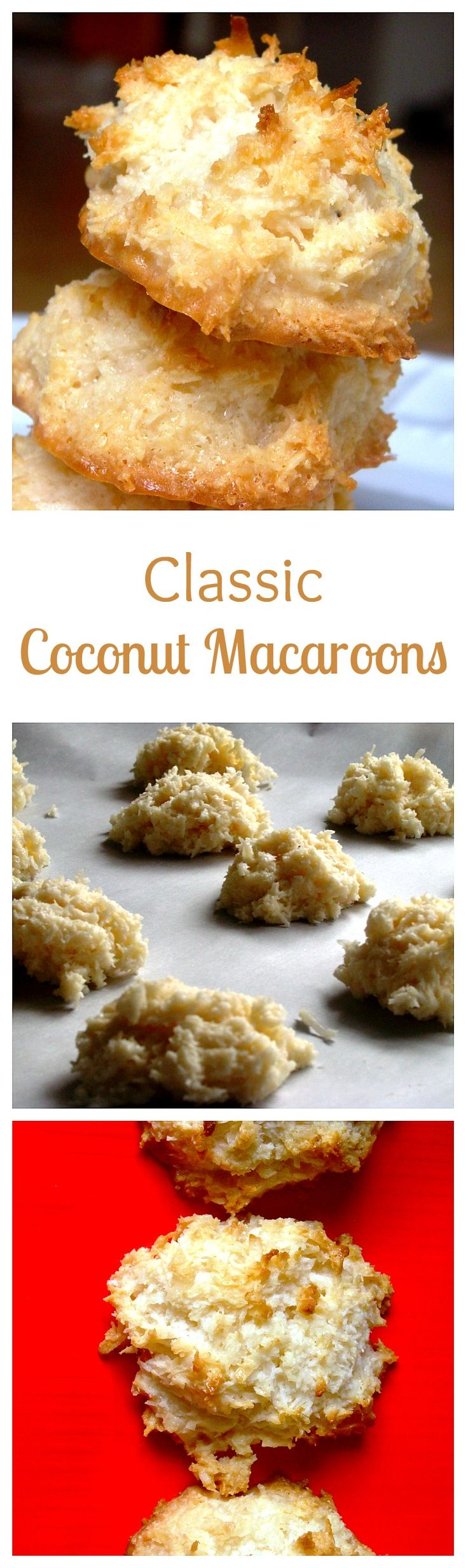 Coconut Macaroons ~ Golden brown, sweet and toasty coconut macaroons with moist chewy centers. Get the recipe on diethood.com