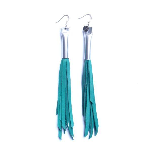 Erinni earrings - water green by Giulia Boccafogli