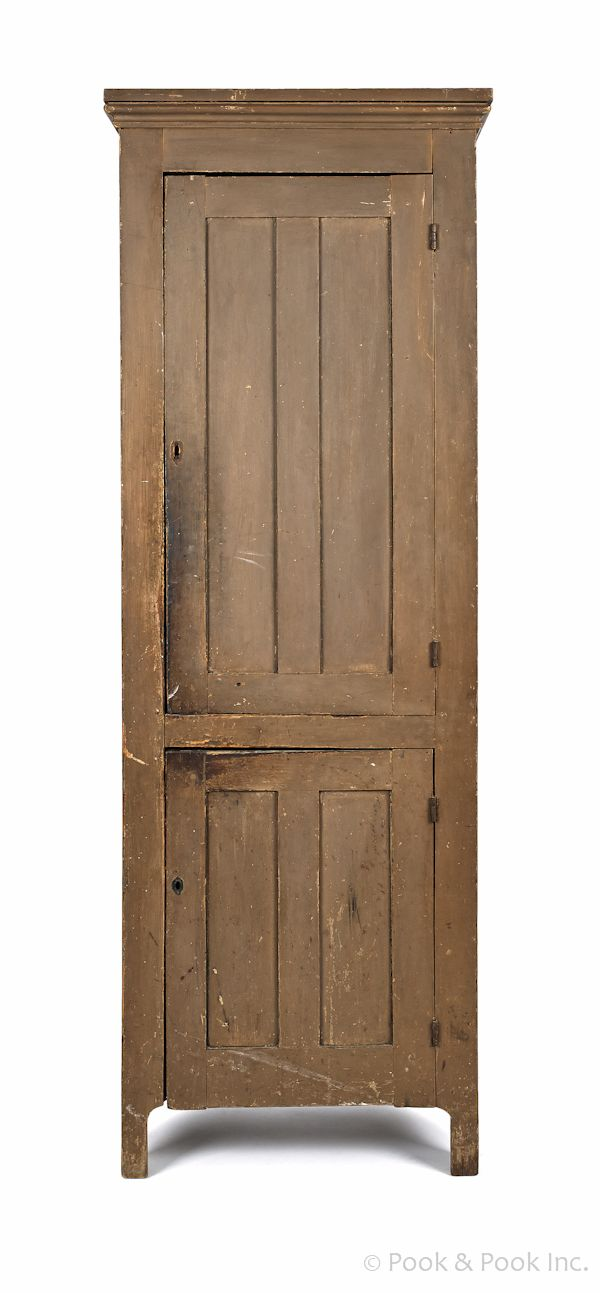 Painted pine chimney cupboard, ca. 1820, retaining an old brown surface, 79 - 13 Best Chimney Cupboards Images On Pinterest Closets, Fitted