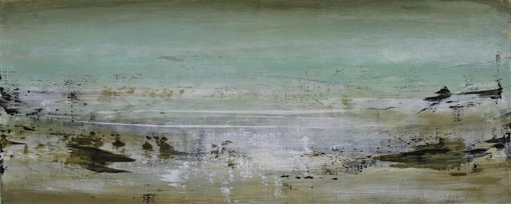 "Original art for sale at UGallery.com | Lake - Shore #4 by Heather McAlpine | $4,875 | acrylic painting | 24"" h x 60"" w 
