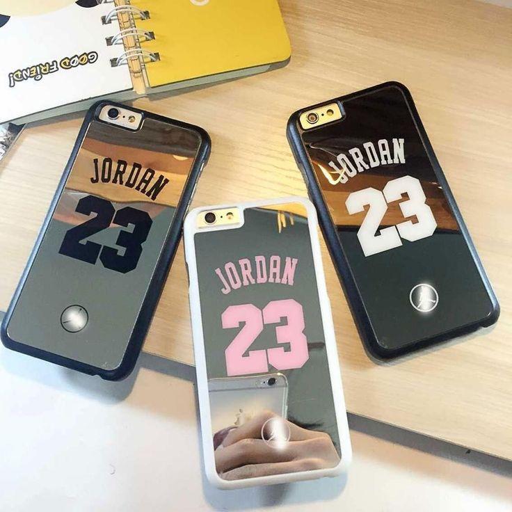 Jordan AJ 23 Mirror Case for iPhone 6 and iPhone 6 Plus Black Silver Pink | eBay