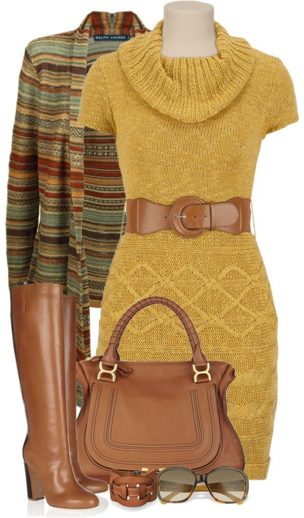 vestido y cardigan amarillo maiz.