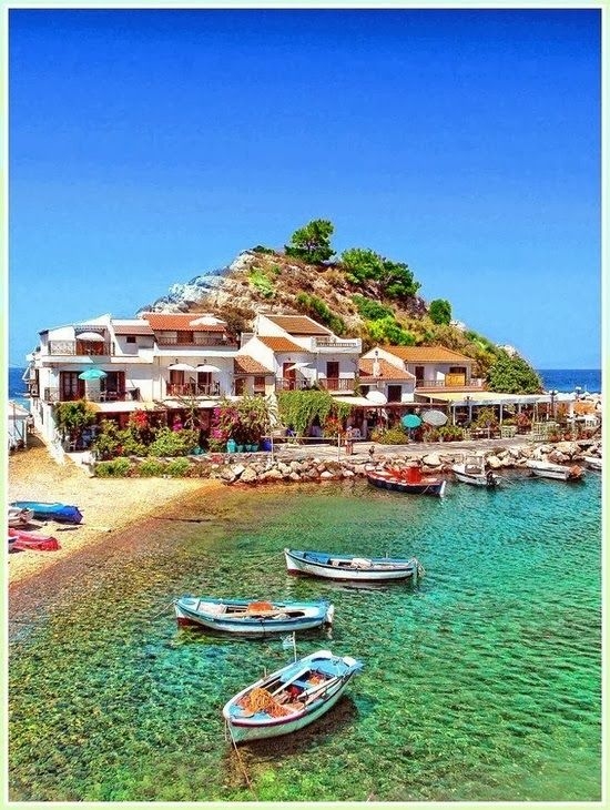 Samos is a Greek island in the eastern Aegean Sea, south of Chios, north of Patmos and the Dodecanese, and off the coast of Asia Minor