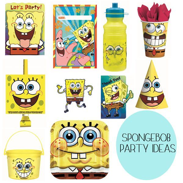 SpongeBob Party Supplies and Ideas
