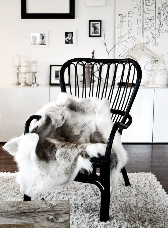 Reindeer hides can serve not only as rugs, but also as beautiful chair covers. For a selection of natural hides visit: https://www.etsy.com/shop/NaturalBazaar