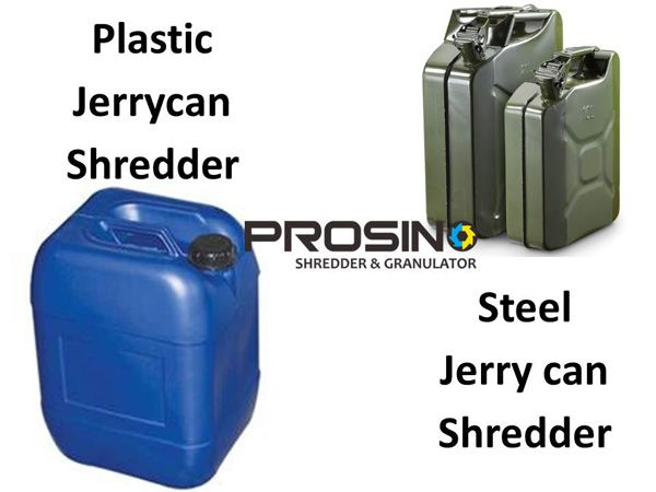 PROSINO offers a complete line of plastic jerrycan shredder machine and steel jerry can shredder for your unique jerry cans size reduction purpose. Contact PROSINO for your own plastic jerrycan shredding machine.