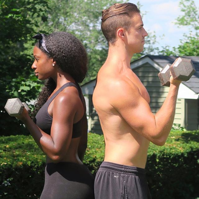Gorgeous and fit interracial couple #love #wmbw #bwwm #swirl