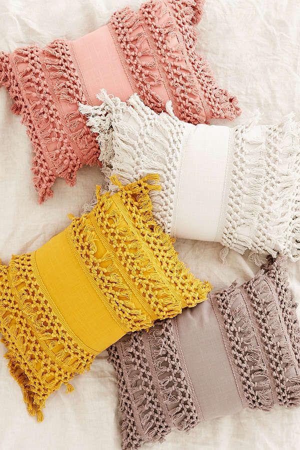 Urban Outfitters Venice Net Tassel Bolster Pillow #afflink