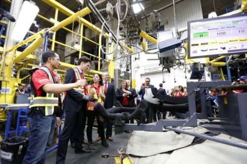 Prime Minister Justin Trudeau tours Guelph auto parts plant... #JustinTrudeau: Prime Minister Justin Trudeau tours Guelph… #JustinTrudeau