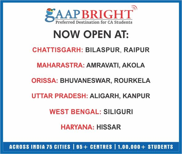 GAAP BRIGHT NEW CENTRES...!!