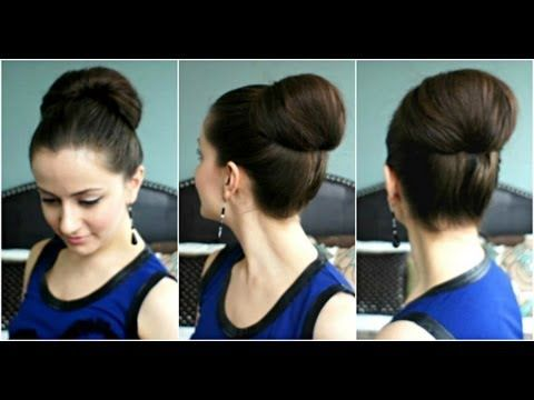 This is a really easy way to recreate the chestnut-like bun worn by celebrities on the red carpet all the time. Note: you'll need the Topsy Tail tool to make...
