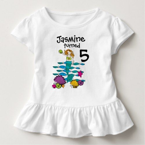 Mermaid Customizable Birthday T Shirt