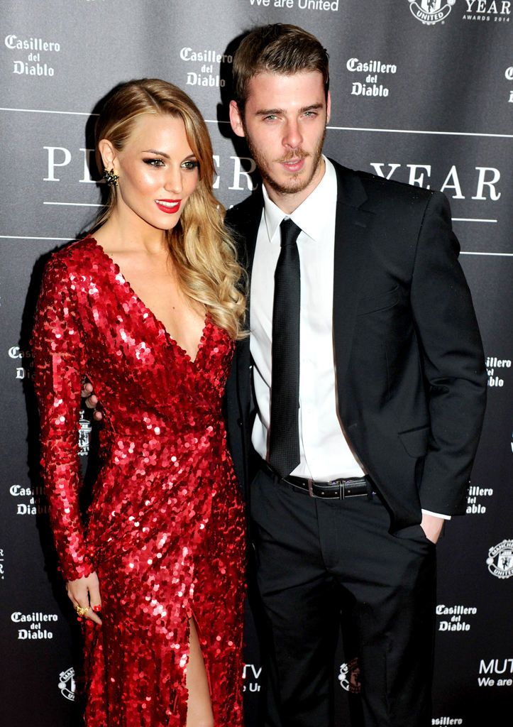 Spain goalkeeper David de Gea With Pop singer Edurne.