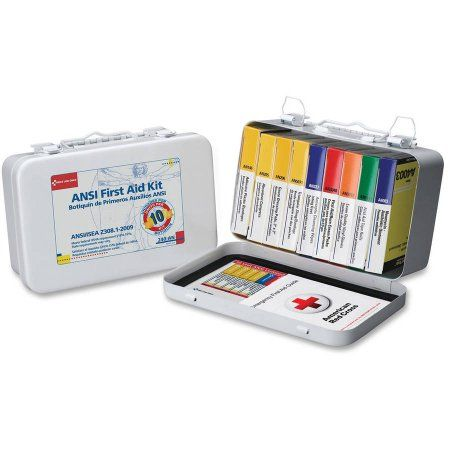 First Aid Only 10-unit Ansi 64-piece First Aid Kit, Multicolor