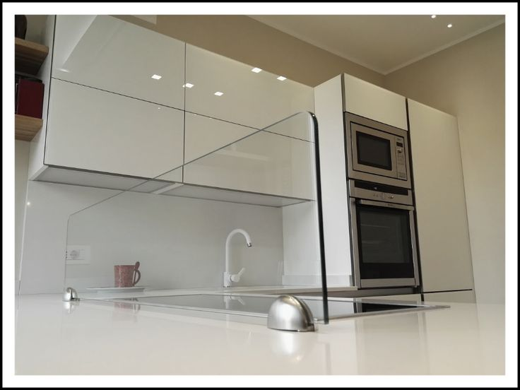 Cucina vetro bianco   Arredamento Cucina e Soggiorno   Pinterest ...