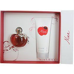 NINA by Nina Ricci Perfume Gift Set for Women (EDT SPRAY 2.7 OZ & BODY LOTION 6.7 OZ) by Nina. $46.75. Design House: Nina Ricci. Recommended Use: casual. Fragrance Notes: a rich aroma of florals, fruit and woodsy greens.. 100% Authentic NINA by Nina Ricci Perfume Gift Set for Women (EDT SPRAY 2.7 OZ & BODY LOTION 6.7 OZ). Manufactured by the design house of Nina Ricci. NINA for WOMEN possesses a blend of a rich aroma of florals, fruit and woodsy greens.. This product was released...