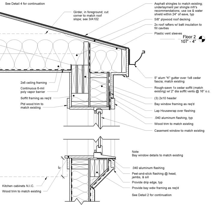 Energy efficient revit construction details google for Bay window construction details