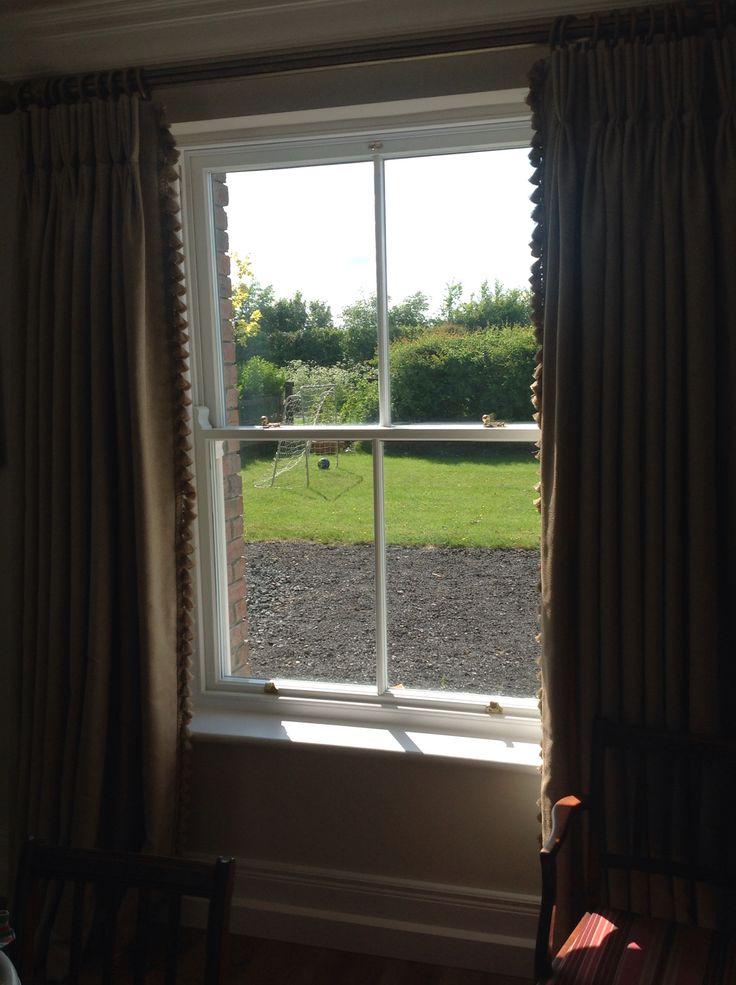 Hardwood sliding sash window triple glazed energy efficient by Burke joinery in Kildare