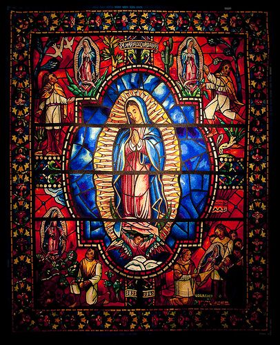 Virgen de Guadalupe stained glass art