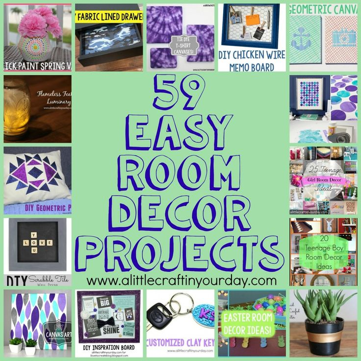 59 Easy DIY Room Decor Projects - A Little Craft In Your DayA Little Craft In Your Day