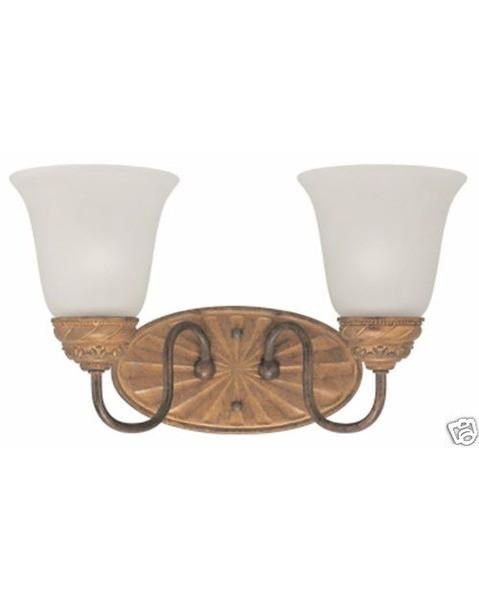 Thomas Lighting SL7302-23 Two Light Vanity Bath Wall Sconce in Colonial Bronze Finish with Artisan Bronze Highlights