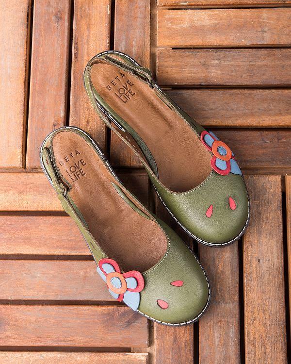 Beta Deri Kadin Sandalet Yesil Beta Kadin Ve Erkek Modelleri Fiyatlari Shoes Slippers Sandals