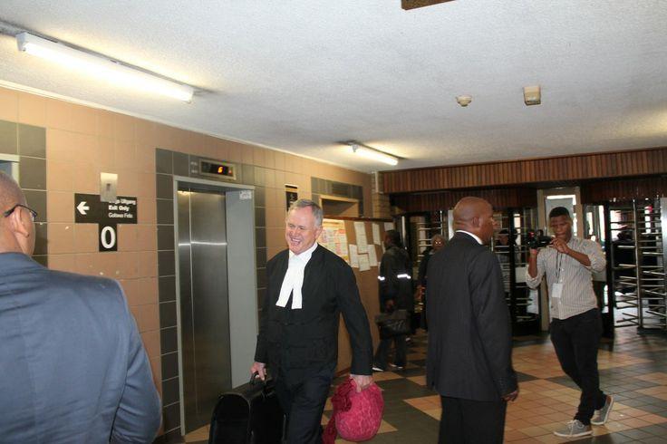 Pistorius' defense, Advocate Barry Roux.