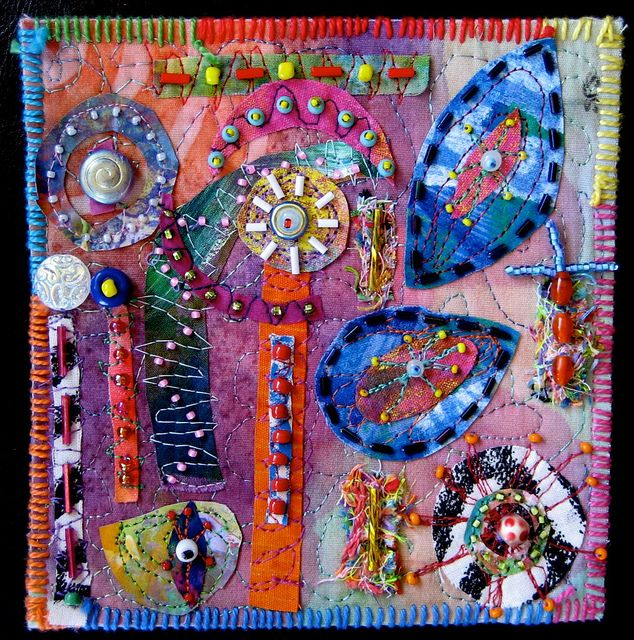 Matisse Minutes by Susan Sorrell - painted fabric collage http://www.creativechick.com/ http://www.flickr.com/photos/fiberart/ #textile_art