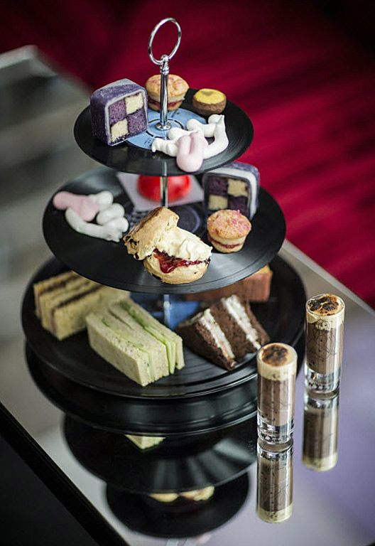 Rock 'n' roll afternoon tea at the W Hotel, Soho! How cool is that? http://bitly.com/MsdbPO