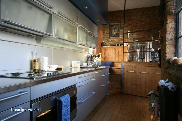 Location Works: Lofts and conversionsHighly unusual house which is a conversion of an old forge, rustic decor with a modern edge; multi-levelled building with a roof terrace. Central London.