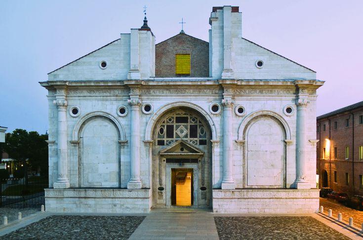 Tempio Malatestiano. Basilica Cathedral Malatesta Temple