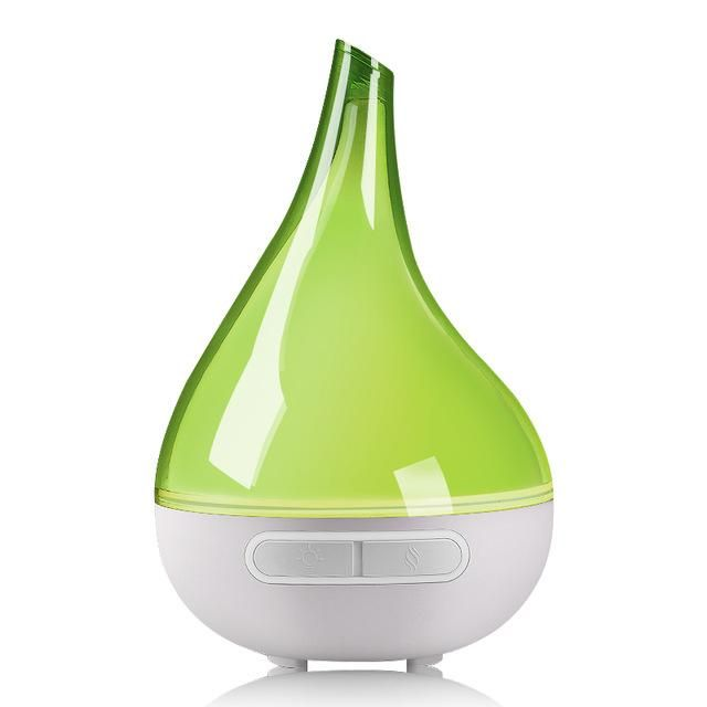 Green essential oil diffuser for aromatherapy of your favourite essential oil blends.