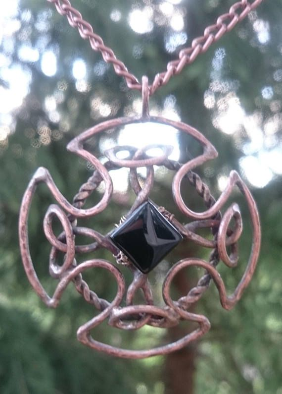 Celtic knot jewelry celtic pendant handmade gift for her anniversary gifts for wife gift for girlfriend gift for man knight cosplay