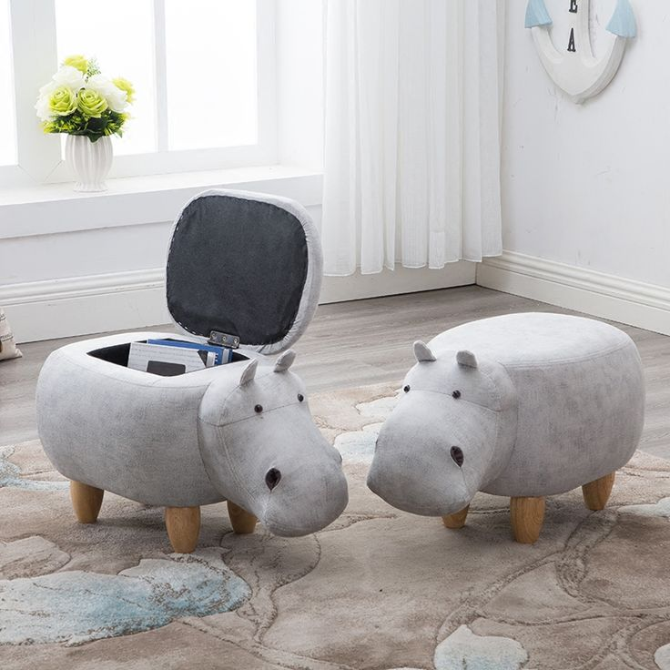 2018 Rushed No New Stool Poire Taburetes Chair Wood Stool Stool Shoes Hippo Designer Furniture Sofa Storage, The Modern