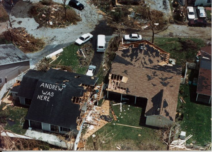 20 year anniversary of Hurricane Andrew hitting the Southeast Coast of Florida.
