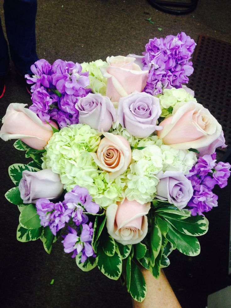 Roses and stock brides bouquet