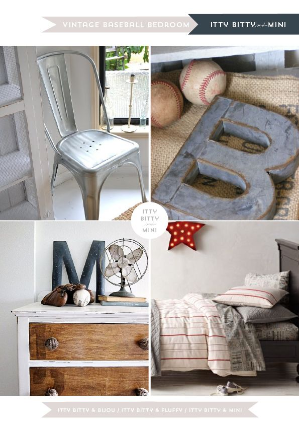 Older boy room  The rustic feel....w/ vintage ball- yes, please!!