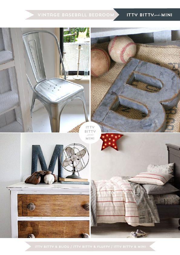 Decor Inspirations | Boys Vintage Baseball Bedroom