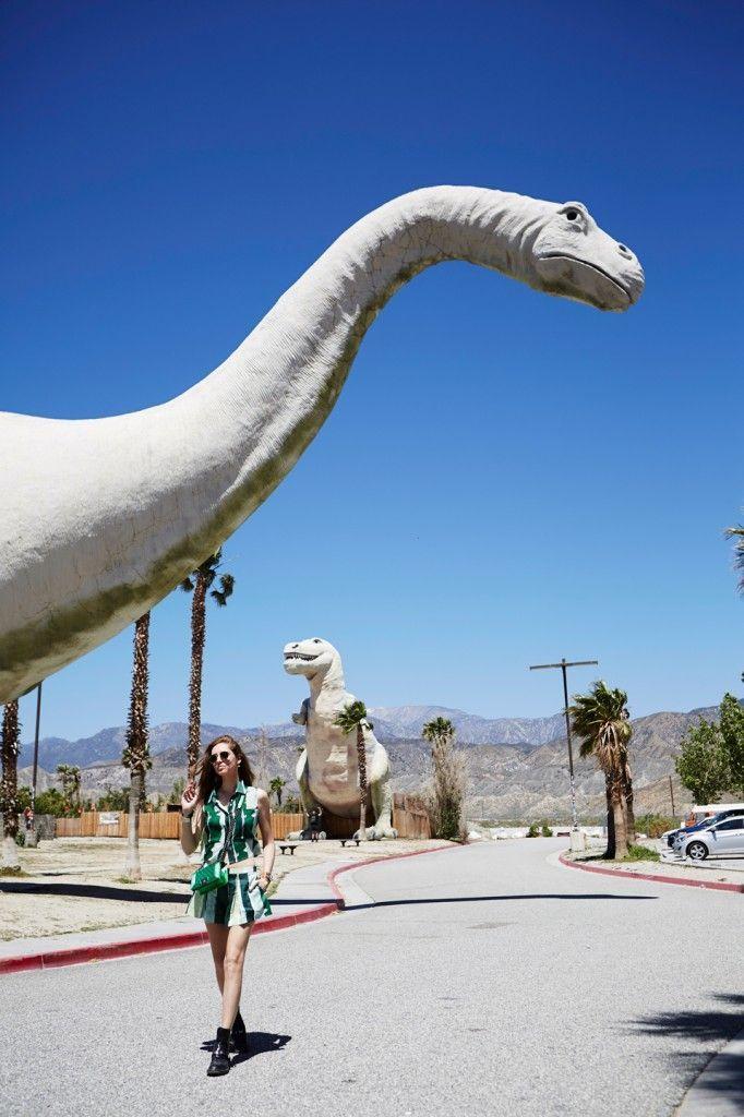 Cabazon dinosaurs, next to Palm Springs