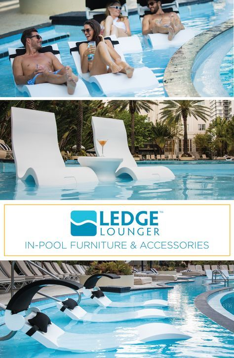 Ledge Lounger In Pool Furniture Is Designed For In Water